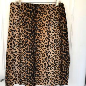 Rena Rowan fun fur fuzzy leopard skirt
